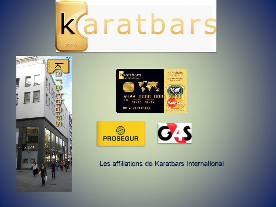 Les affiliations de Karatbars International