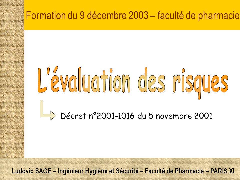 Formation du 9 décembre 2003 – faculté de pharmacie