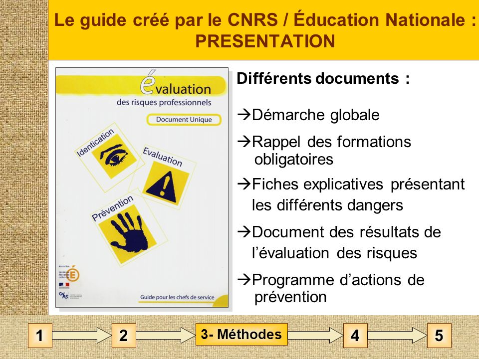 Le guide créé par le CNRS / Éducation Nationale : PRESENTATION