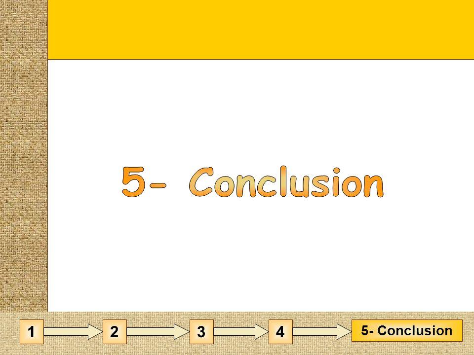 5- Conclusion 1 2 3 4 5- Conclusion