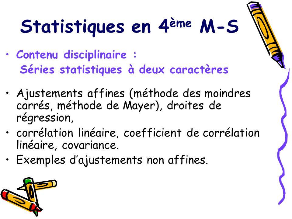 Statistiques en 4ème M-S