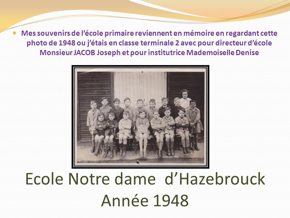Ecole Notre dame d'Hazebrouck Année 1948