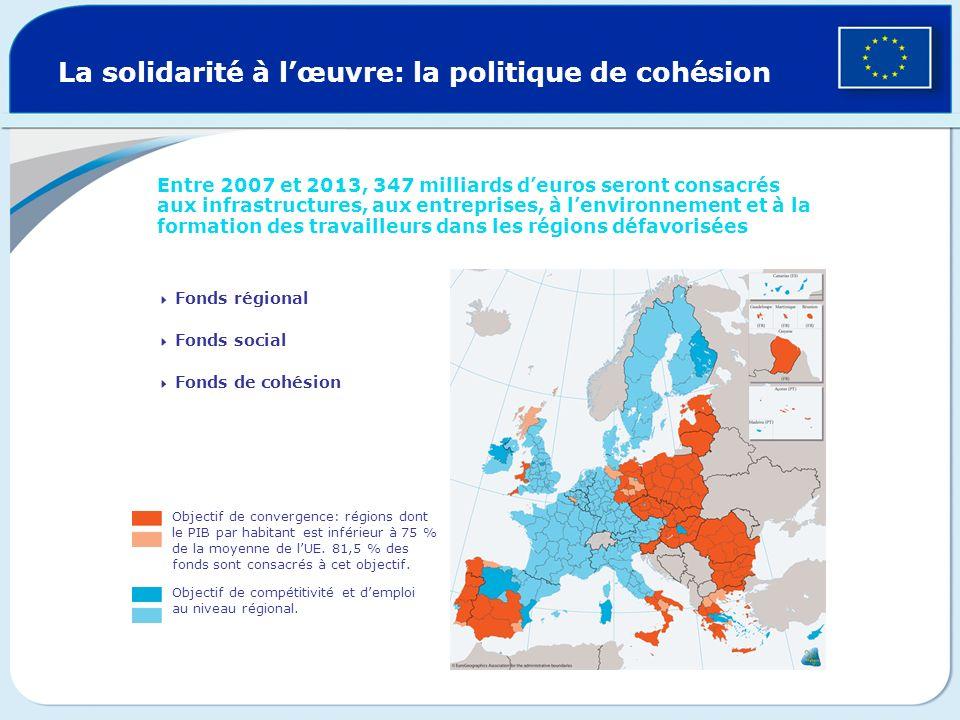 La solidarité à l'œuvre: la politique de cohésion