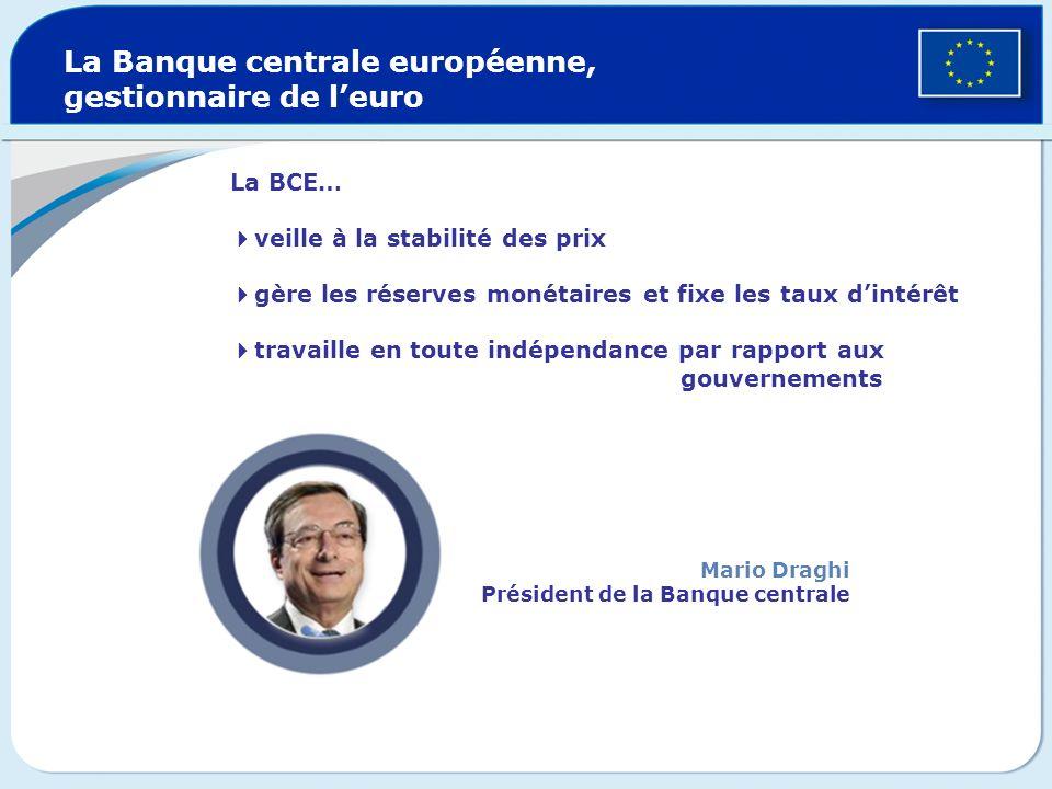 La Banque centrale européenne, gestionnaire de l'euro