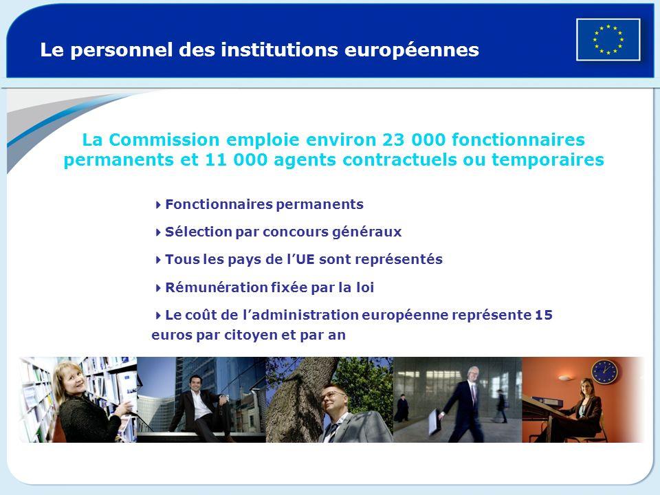 Le personnel des institutions européennes