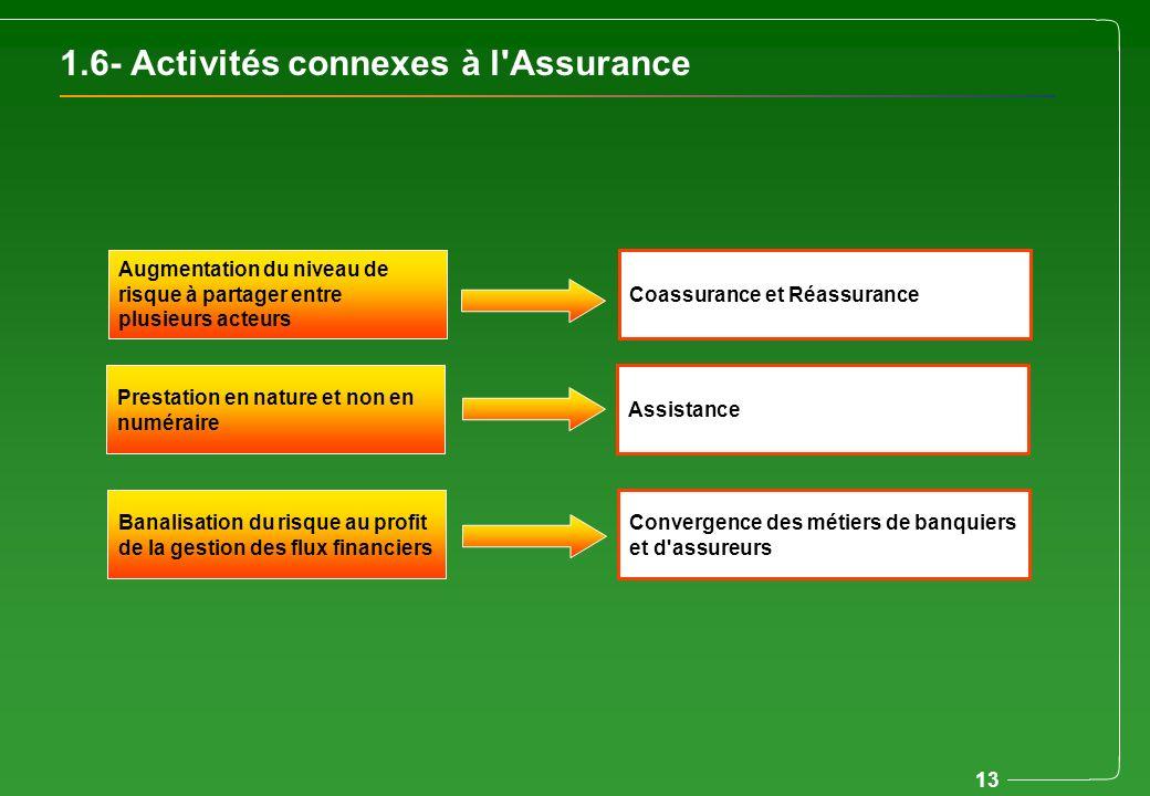 1.6- Activités connexes à l Assurance