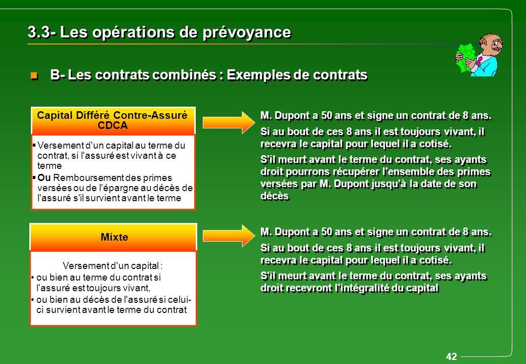 Capital Différé Contre-Assuré CDCA