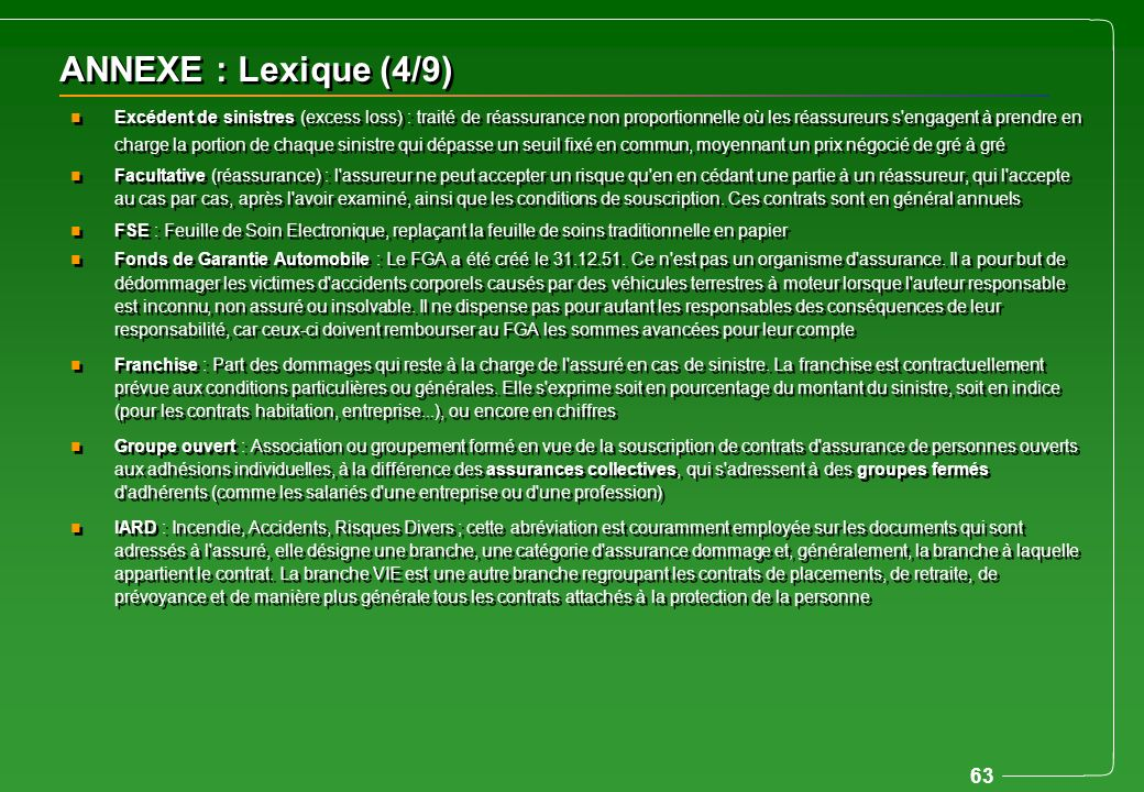 ANNEXE : Lexique (4/9)