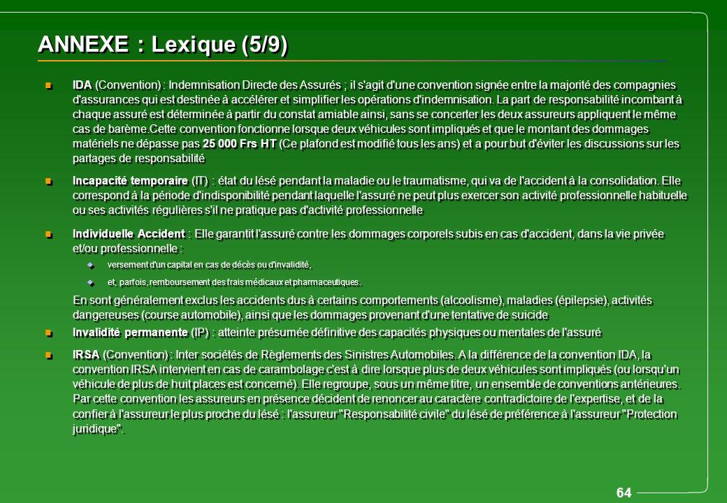 ANNEXE : Lexique (5/9)