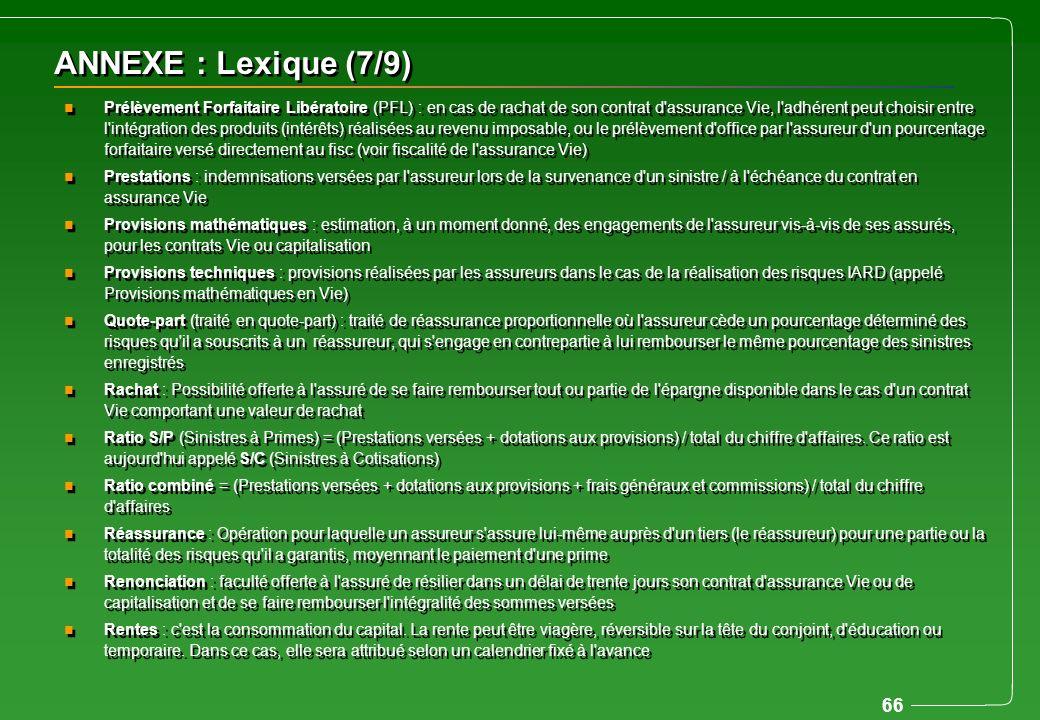ANNEXE : Lexique (7/9)