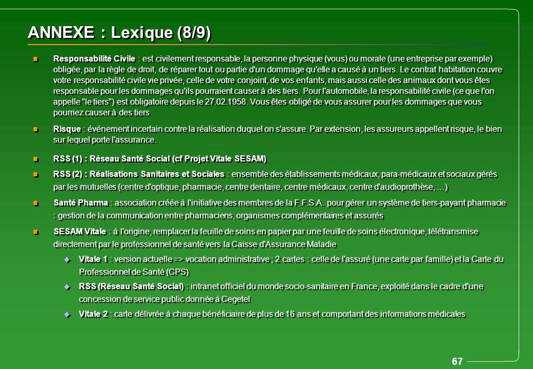ANNEXE : Lexique (8/9)