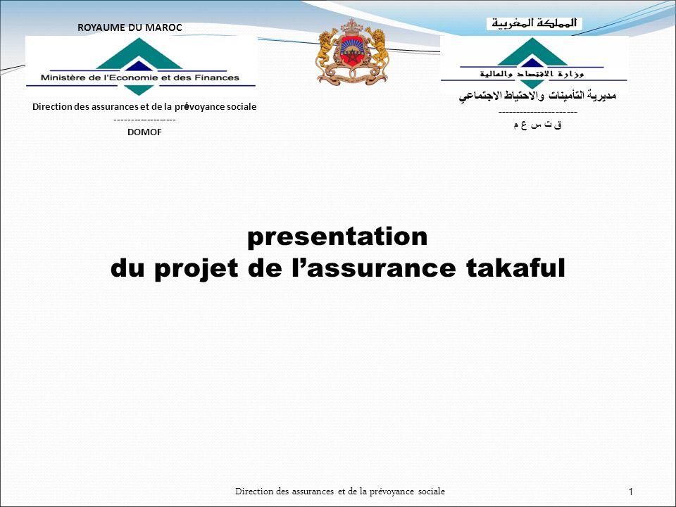 du projet de l'assurance takaful