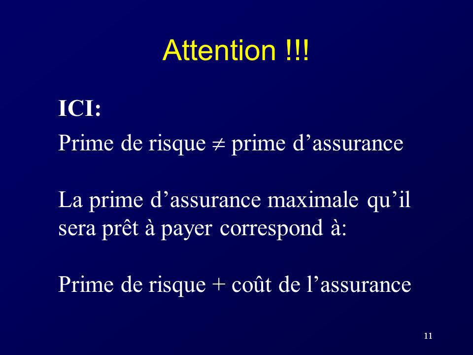 Attention !!! ICI: Prime de risque  prime d'assurance