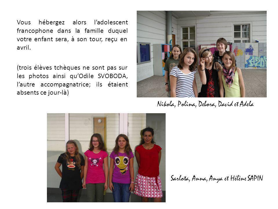 Vous hébergez alors l'adolescent francophone dans la famille duquel votre enfant sera, à son tour, reçu en avril.