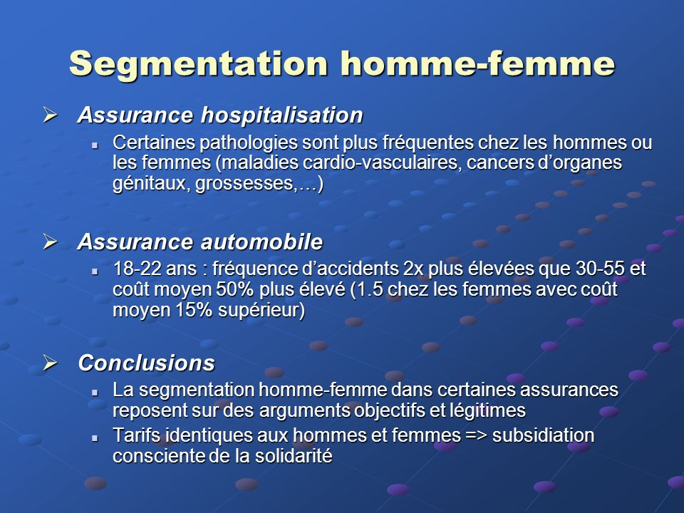 Segmentation homme-femme