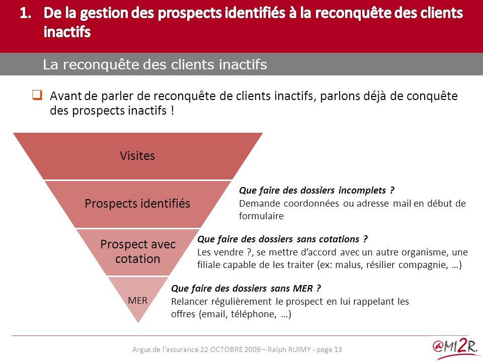 De la gestion des prospects identifiés à la reconquête des clients inactifs