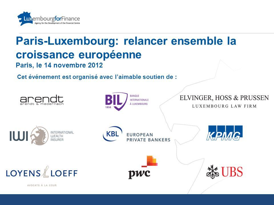 Paris-Luxembourg: relancer ensemble la croissance européenne