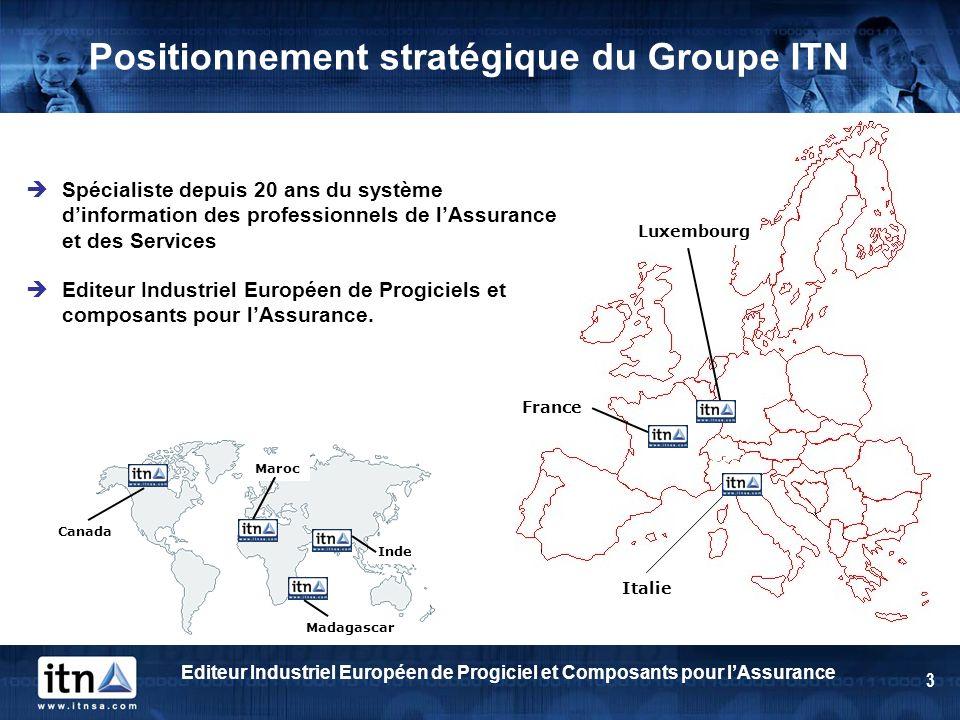 Positionnement stratégique du Groupe ITN