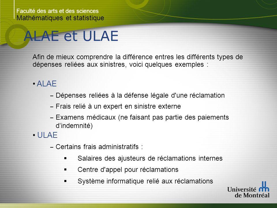 ALAE et ULAE ALAE ULAE Mathématiques et statistique