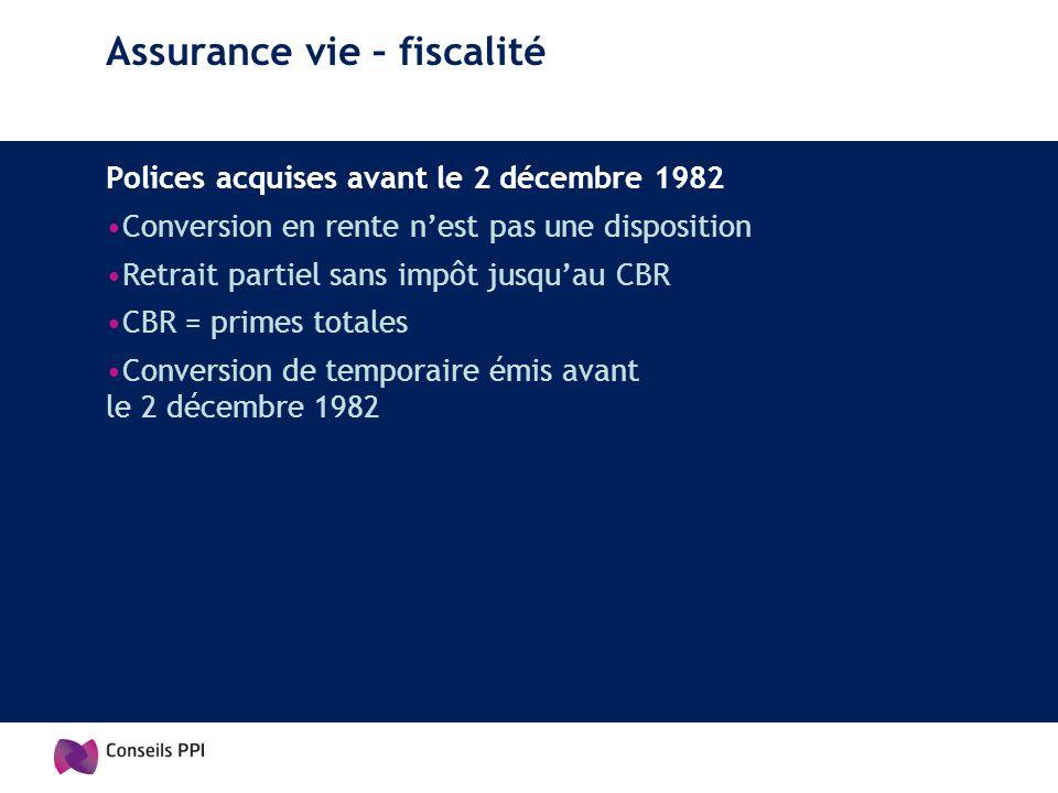 Assurance vie – fiscalité