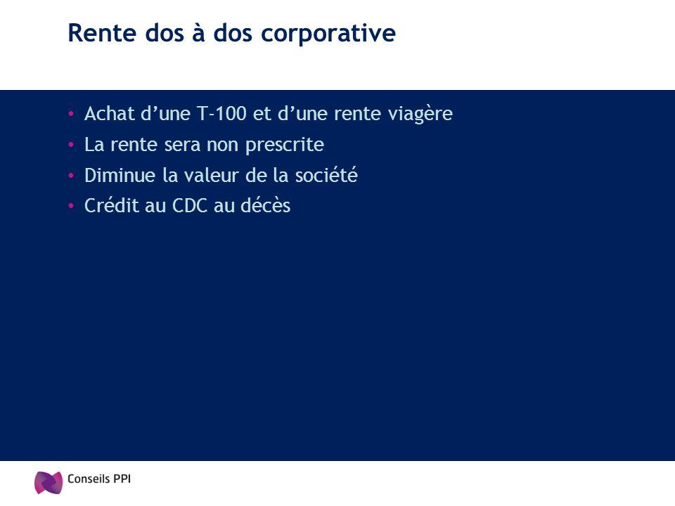 Rente dos à dos corporative