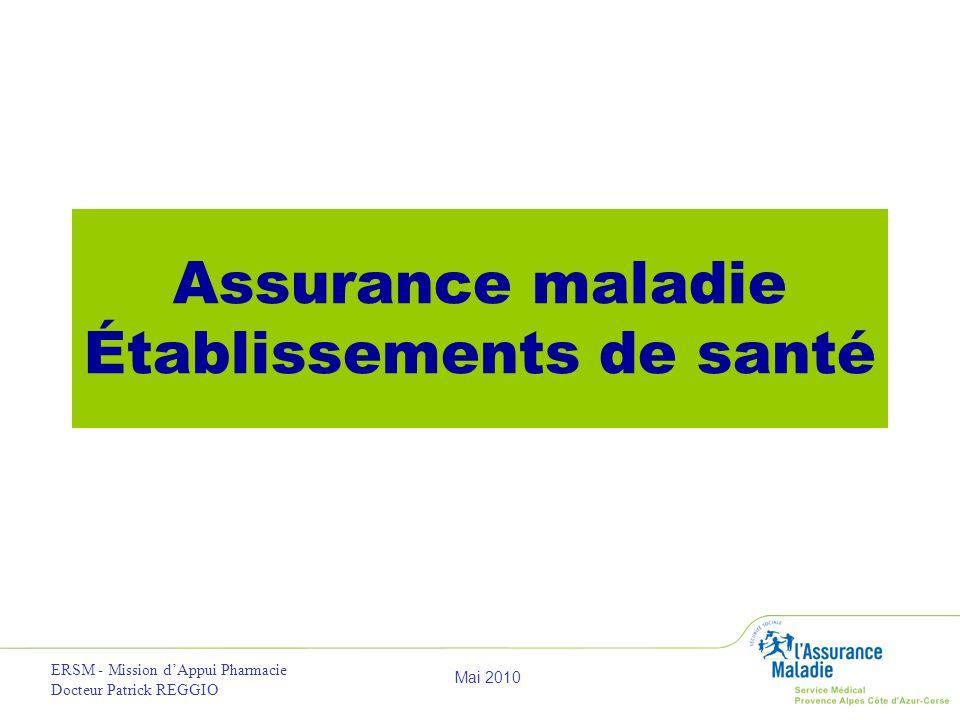 Assurance maladie Établissements de santé