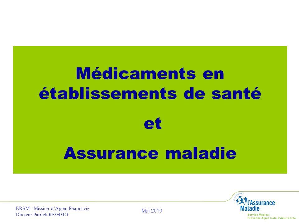 Médicaments en établissements de santé