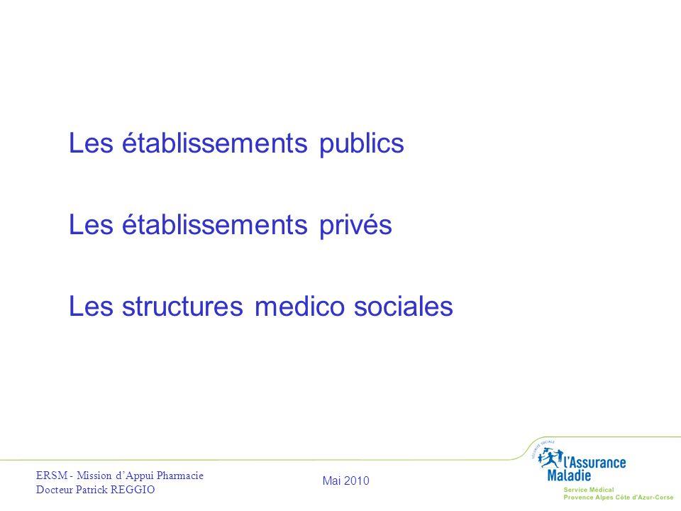 Les établissements publics Les établissements privés