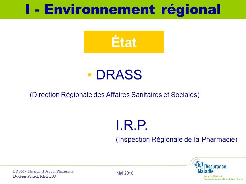 I - Environnement régional