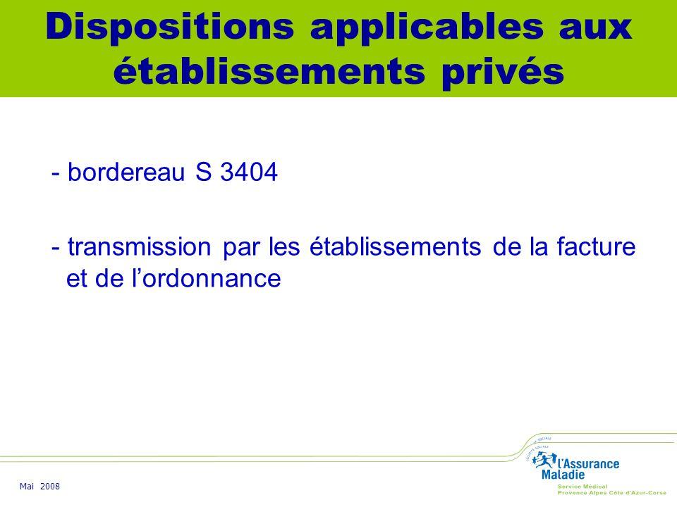 Dispositions applicables aux établissements privés