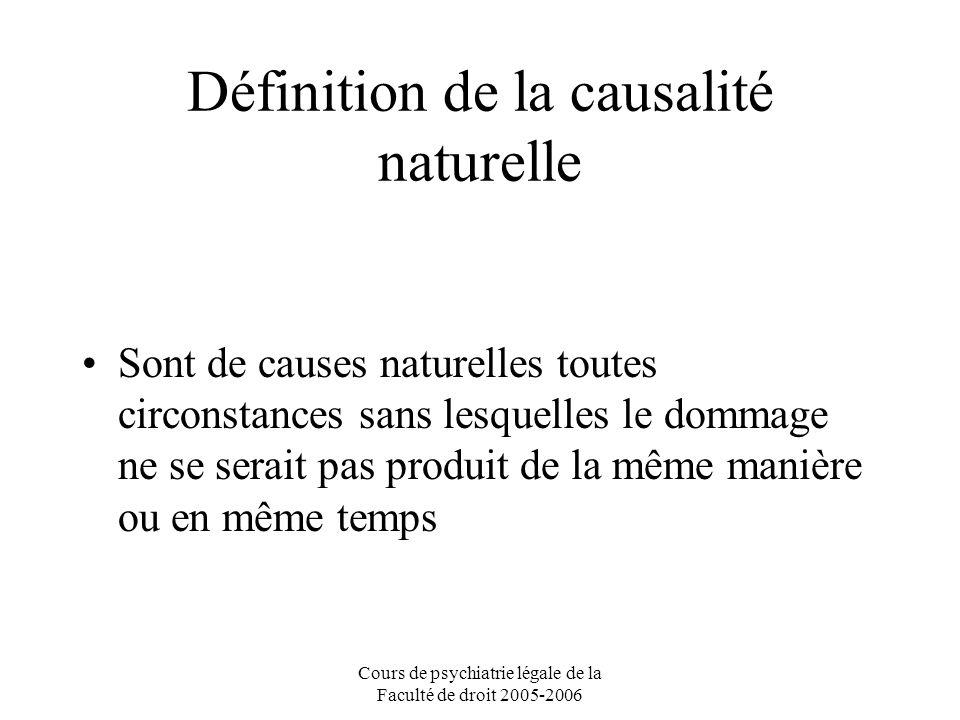 Définition de la causalité naturelle