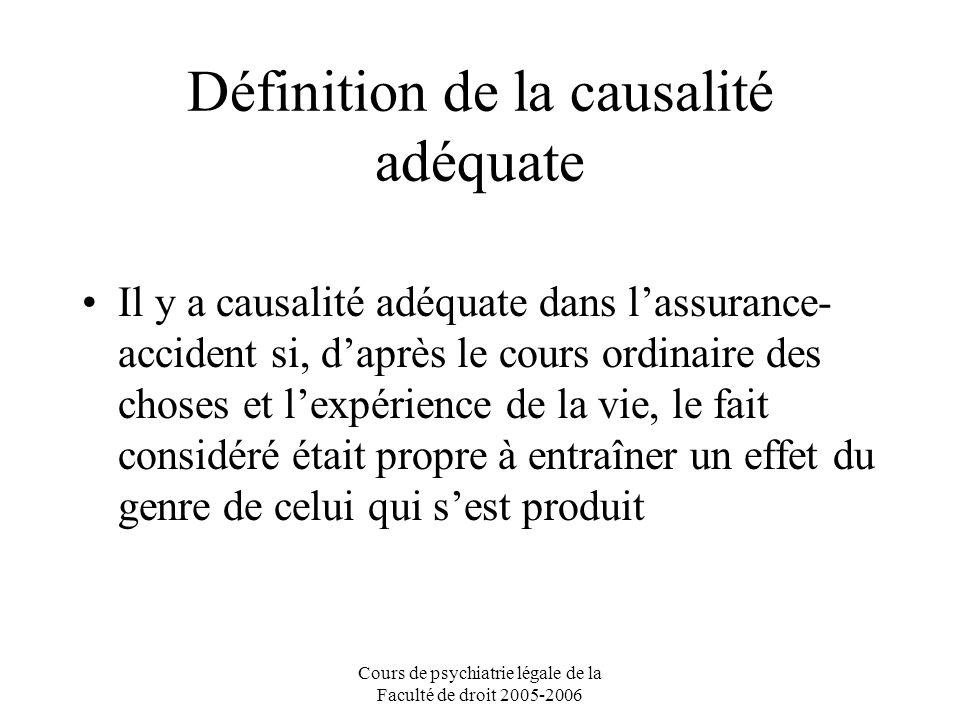 Définition de la causalité adéquate
