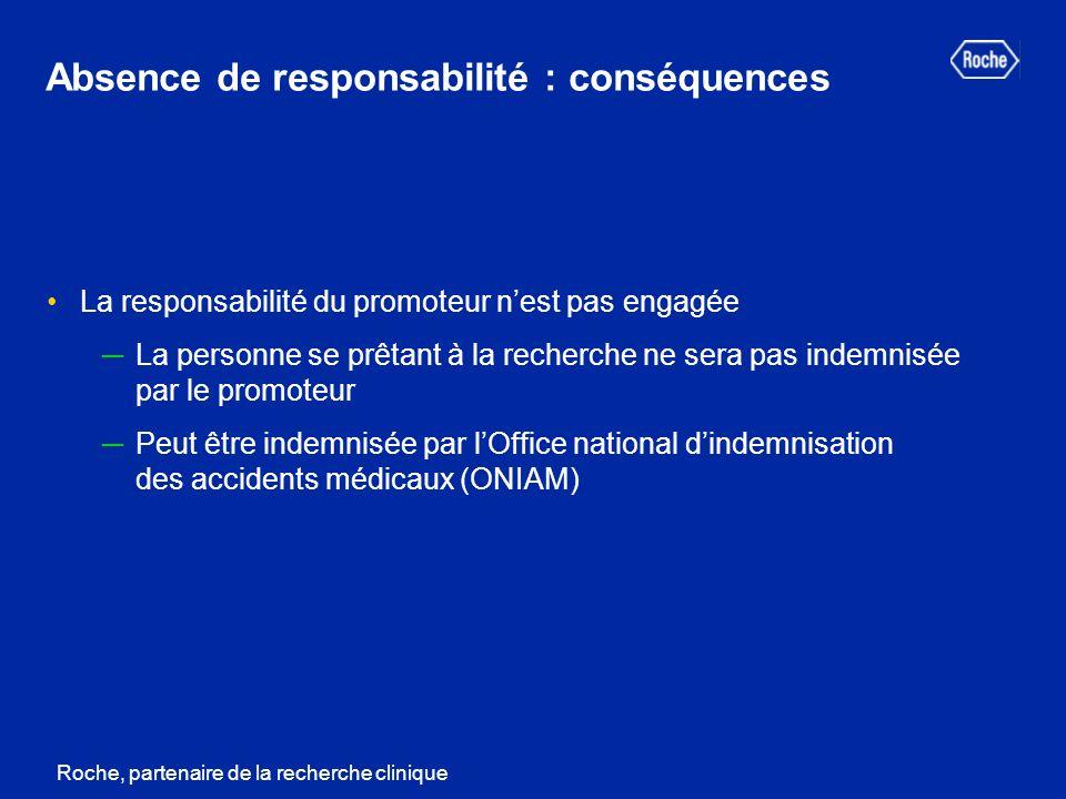 Absence de responsabilité : conséquences