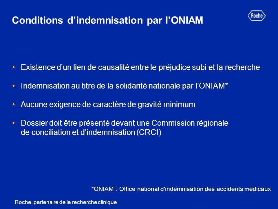 Conditions d'indemnisation par l'ONIAM