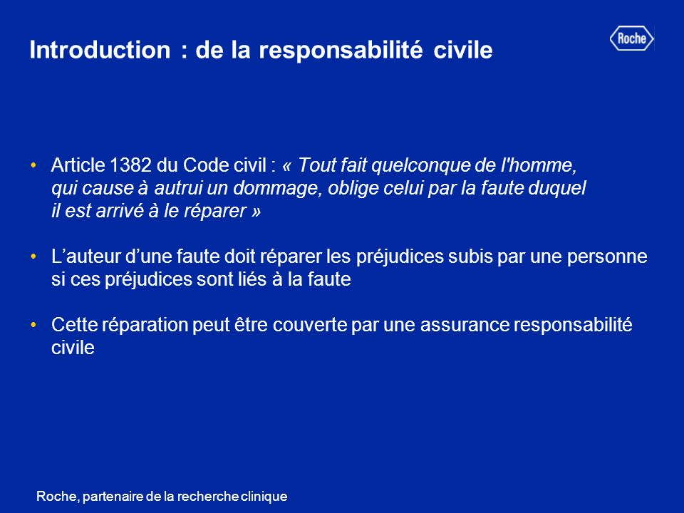 Introduction : de la responsabilité civile