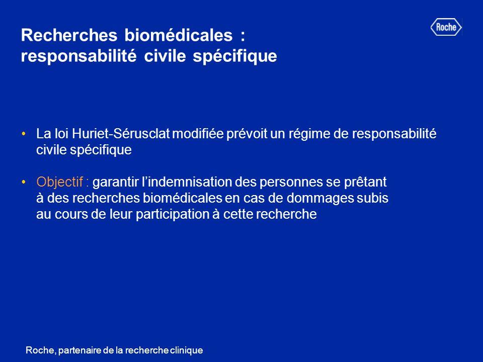 Recherches biomédicales : responsabilité civile spécifique