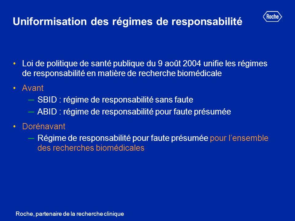 Uniformisation des régimes de responsabilité
