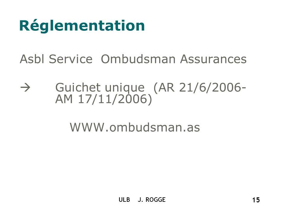 Réglementation Asbl Service Ombudsman Assurances