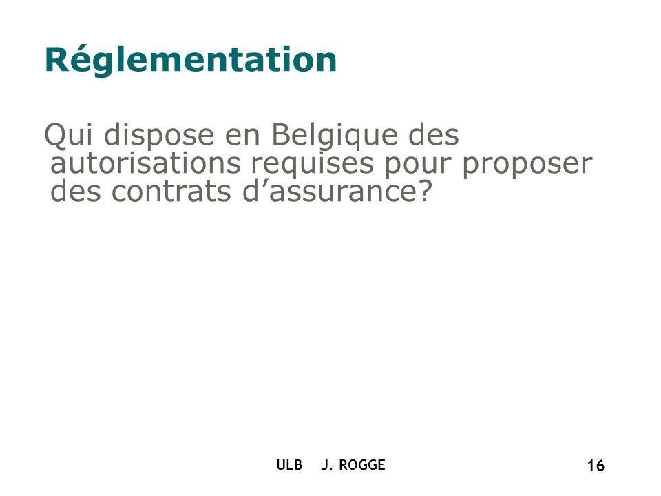 Réglementation Qui dispose en Belgique des autorisations requises pour proposer des contrats d'assurance
