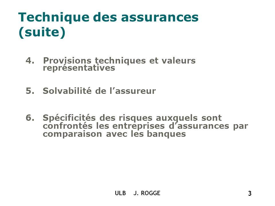 Technique des assurances (suite)