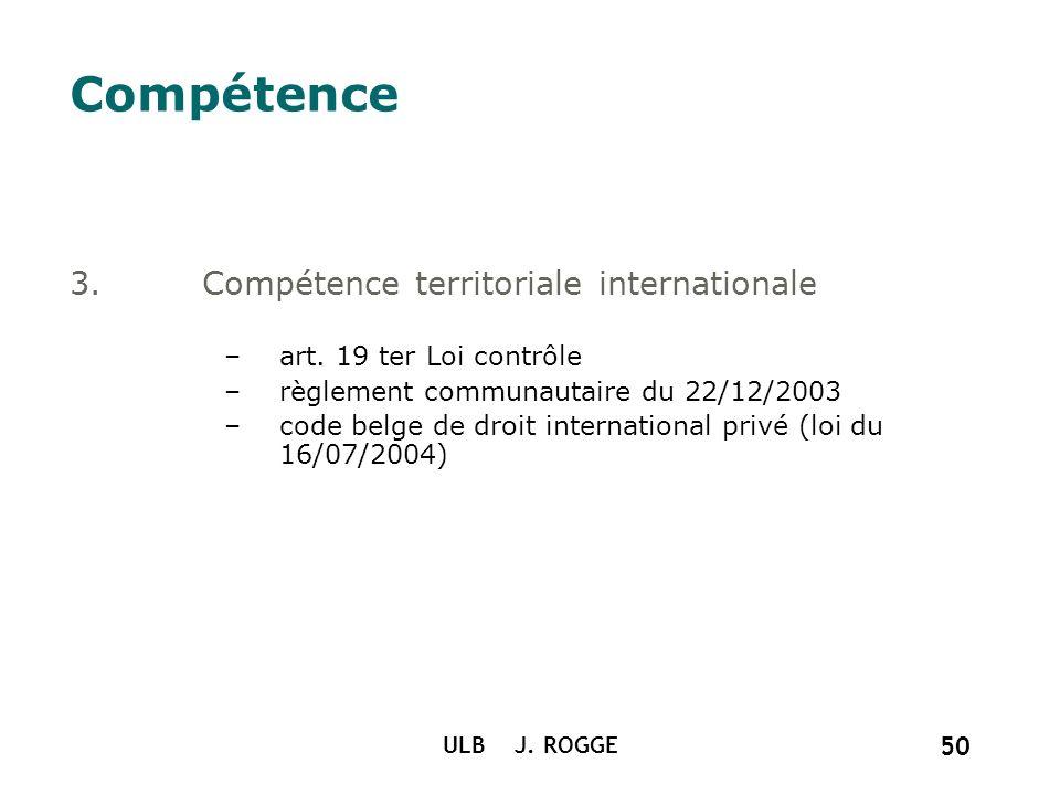 Compétence Compétence territoriale internationale