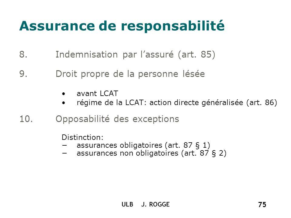 Assurance de responsabilité