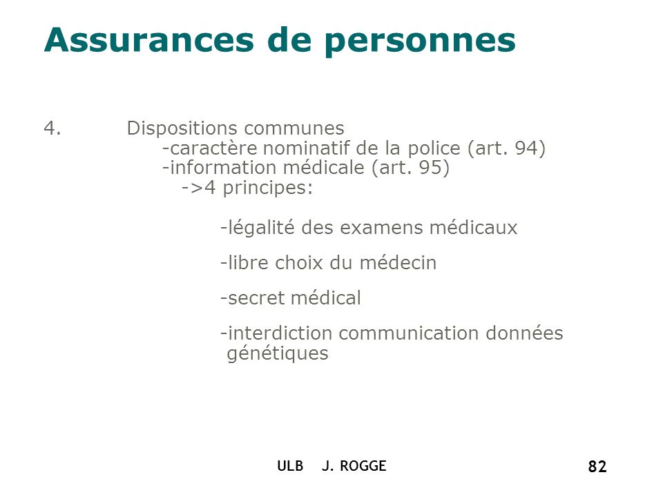 Assurances de personnes