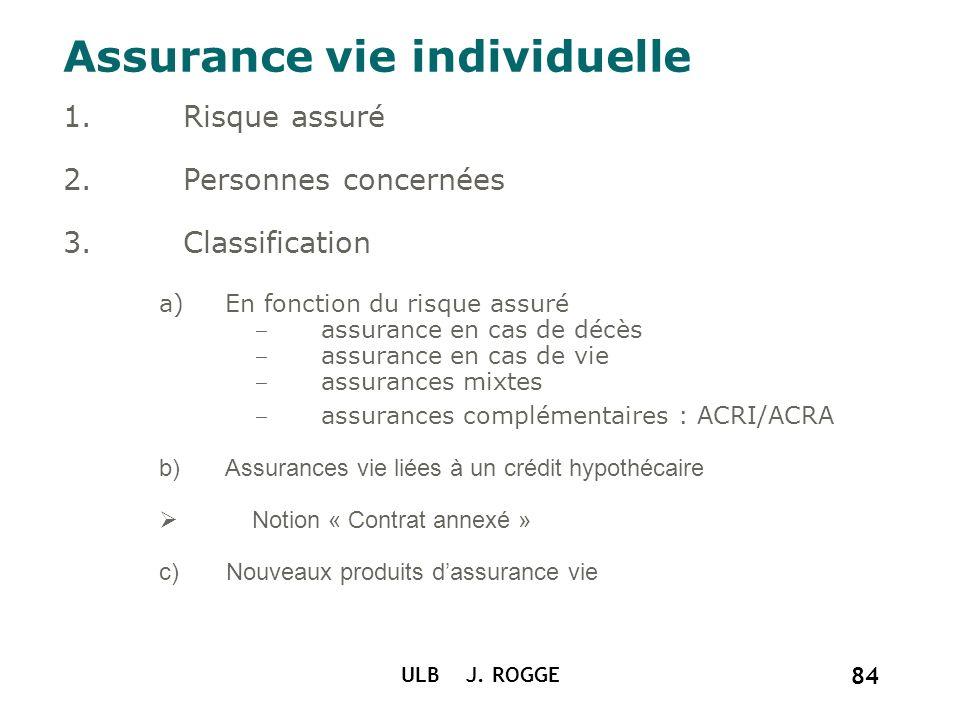 Assurance vie individuelle