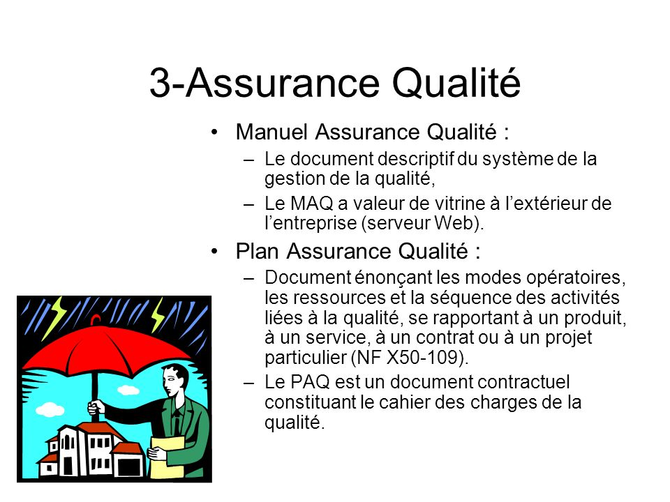 3-Assurance Qualité Manuel Assurance Qualité :