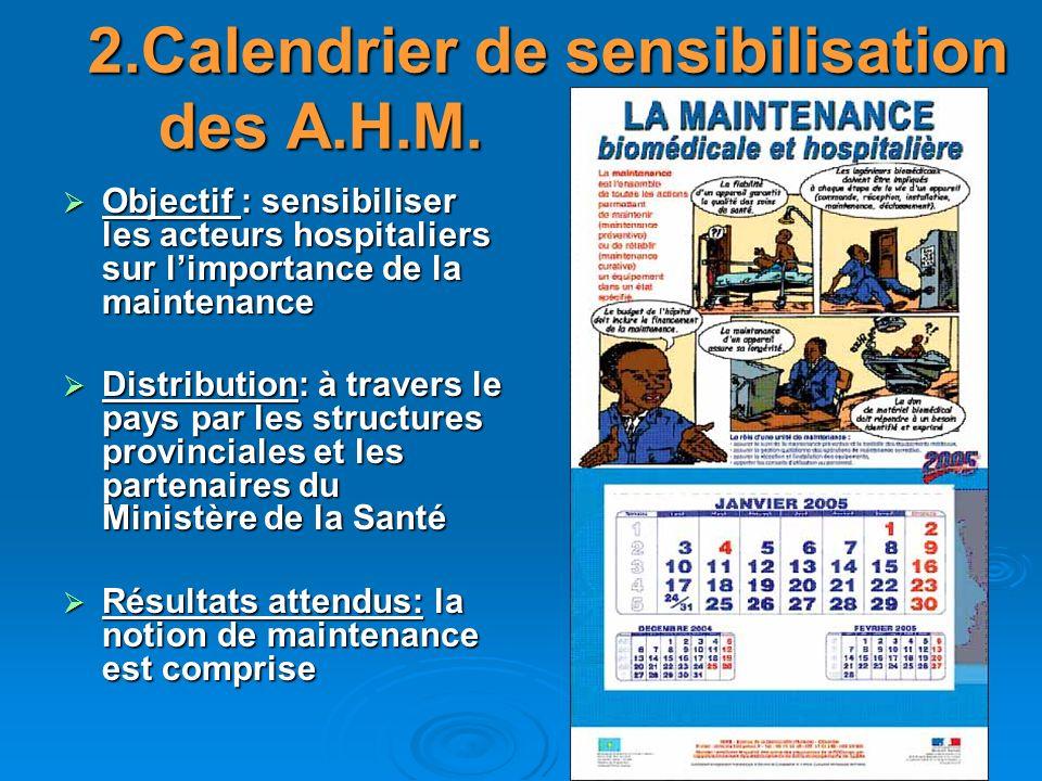 2.Calendrier de sensibilisation des A.H.M.