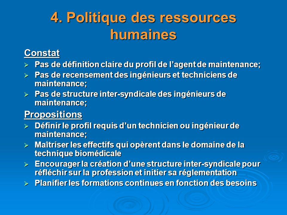 4. Politique des ressources humaines