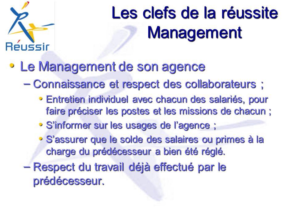 Les clefs de la réussite Management