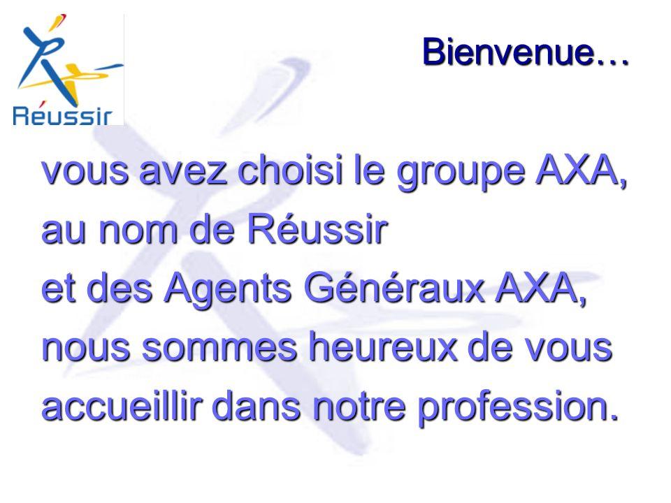 vous avez choisi le groupe AXA, au nom de Réussir