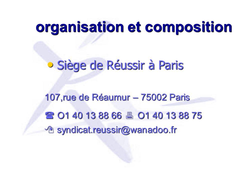 organisation et composition